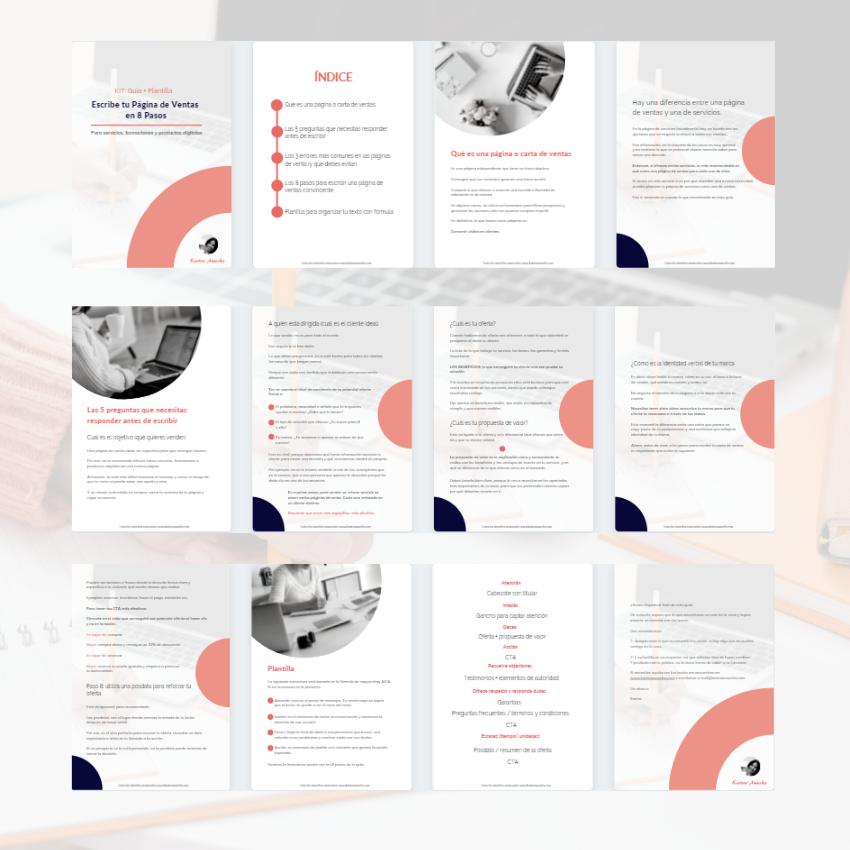 página de ventas kit (guía + plantilla)